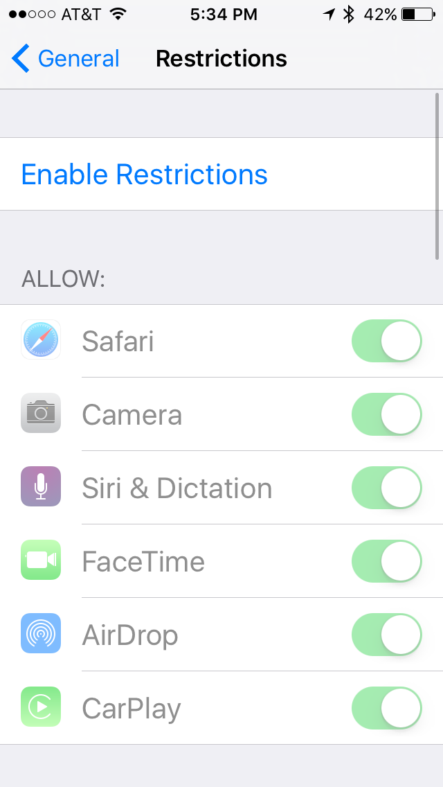 Limiting Camera Usage (IPhone) – Protecting your Child